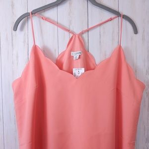 J CREW New Scallop Swing Tank Cami Plus Size 14